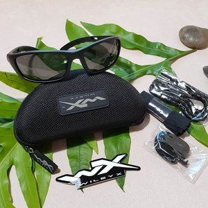 WILEY X  P17M Black OPS Sunglasses Grey Lens